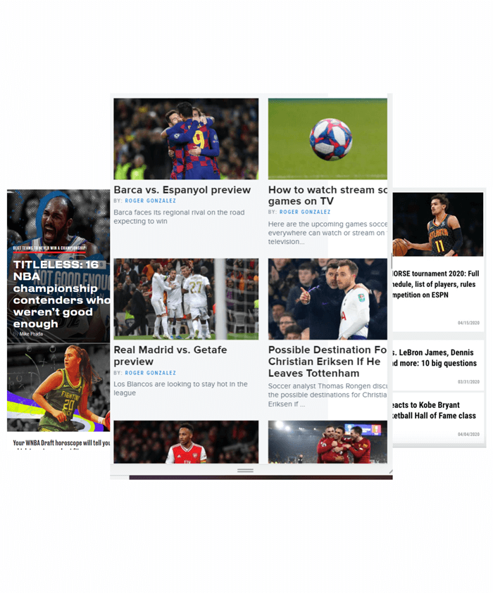 Sports & News Website