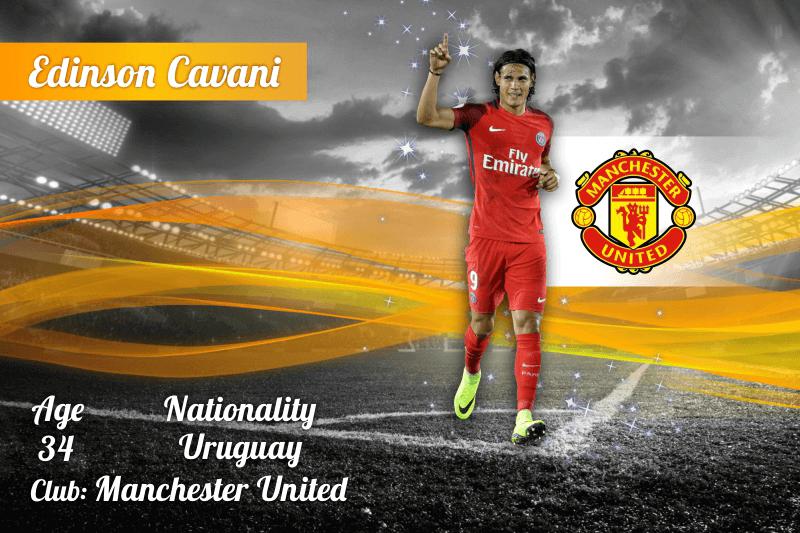Premier League Top Scorers - Edinson Cavani